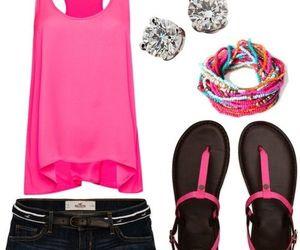 pink, shorts, and summer image