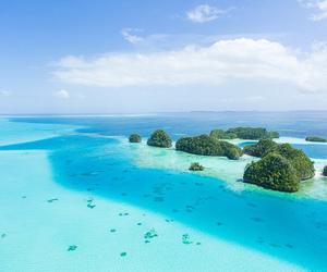 beach, sea, and Island image
