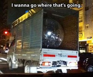 funny, disco ball, and party image