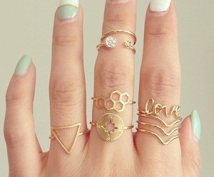 gold, rings, and love image