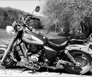 black&white, motorcycle, and vehicles image