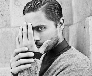 black, white, and jared leto image