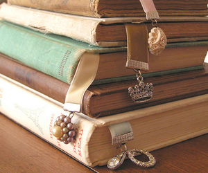 bookmark, books, and charms image