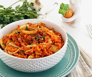bacon, rice, and carrot image