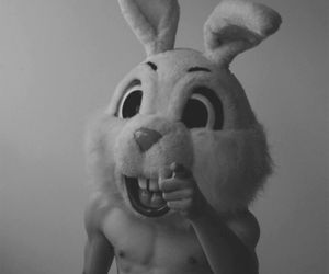 black and white, boy, and easter image