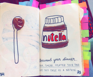 journal, nutella, and wreck this journal image