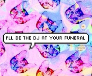 cat, dj, and funeral image