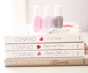 book, essie, and beauty image