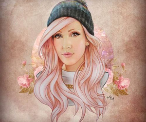 Ellie Goulding and drawing image