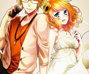 anime, couple, and heroine image