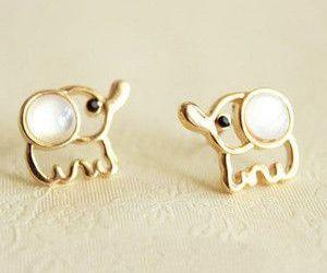 elephant, cute, and earrings image