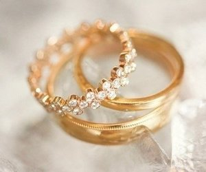 rings, gold, and diamond image