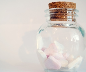 bottle, glass jar, and hearts image