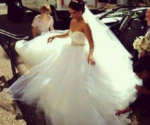 girl, beautiful, and wedding image