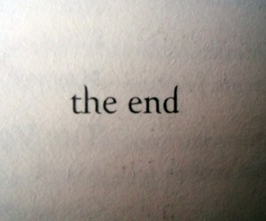 end, the end, and text image