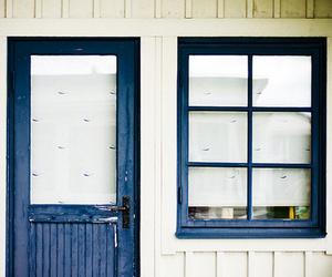 door, window, and blue image