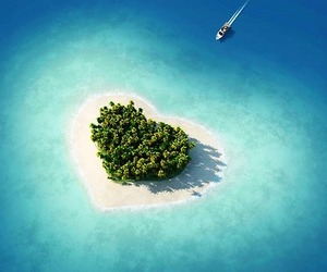 heart, Island, and paradise image