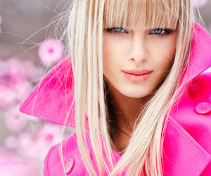 pink, girl, and blonde image