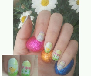 easter, flowers, and nail polish image
