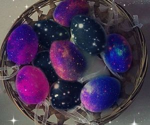 easter, galaxy, and eggs image