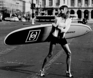 chanel, model, and surf image