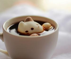 kawaii, cat, and coffee image