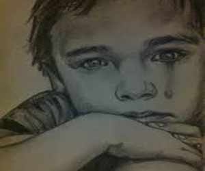 alone, boy, and sad image
