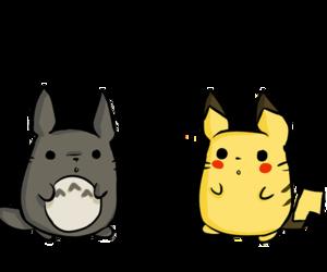 pikachu and totoro image