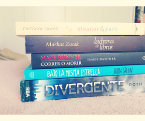 books, the book thief, and divergent image