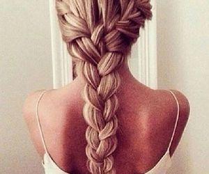 blond, braid, and hair image