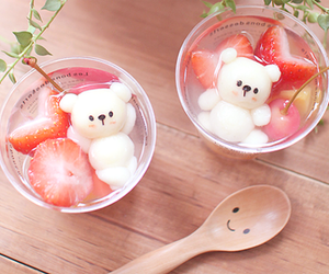 cute, food, and strawberry image