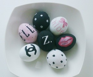 black, eggs, and pink image