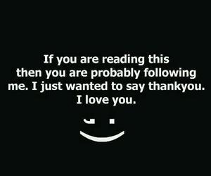 followers, I Love You, and thank image