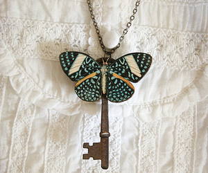 butterfly, key, and jewelry image