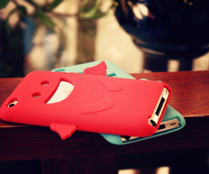iphone, cute, and red image