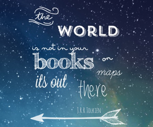 books, maps, and quotes image