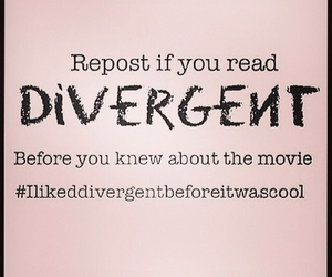 divergent, book, and movie image