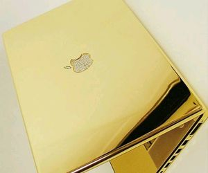 apple, gold, and cool image