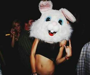 girl, party, and rabbit image