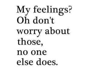 feelings, lonely, and don't worry image