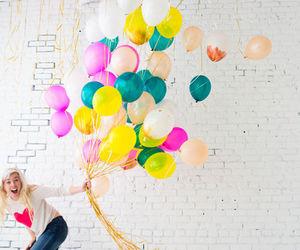balloon, balloons, and girl image