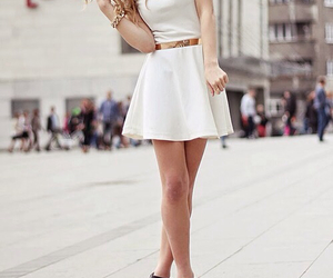 cool, dress, and white image