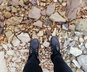 boots, rocks, and shoes image