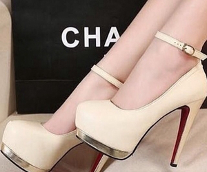 shoes, chanel, and heels image
