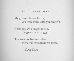 lesson, quotes, and Lang Leav image