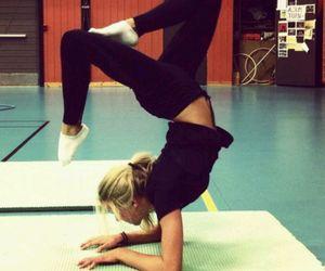 girl, fitness, and yoga image