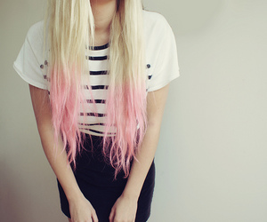 hair, pink, and girl image