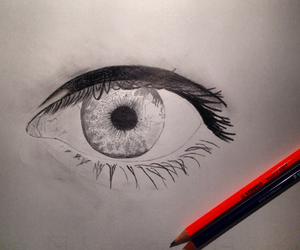 art, eyes, and picture image