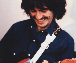 beatles, george harrison, and guitar image