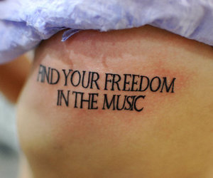 tattoo, music, and freedom image